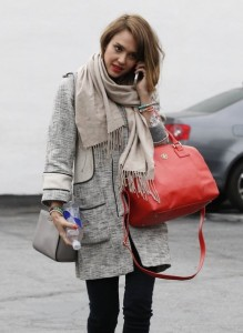 Jessica+Alba+Outerwear+Leather+Coat+dXlbisoqmMal